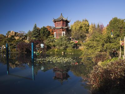 Chinese garden in Autumn, Montreal