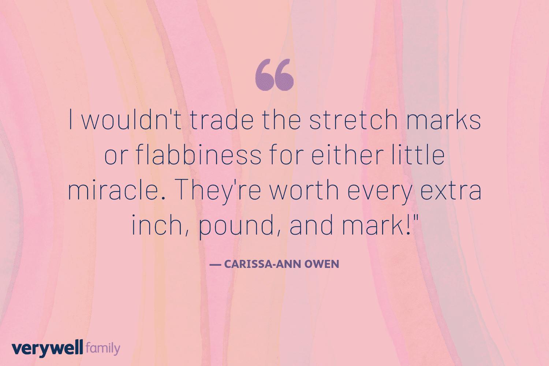 Verywell Family postpartum quote by Carissa-Ann Owen