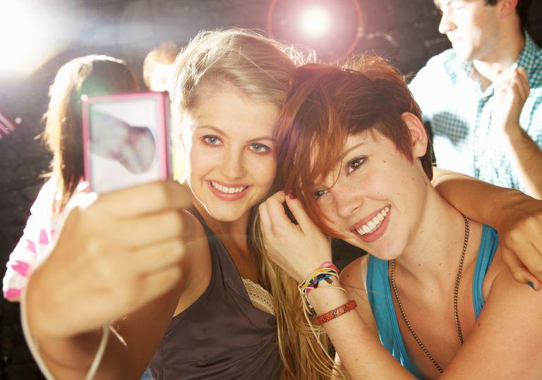 Teens post selfies on Instagram.