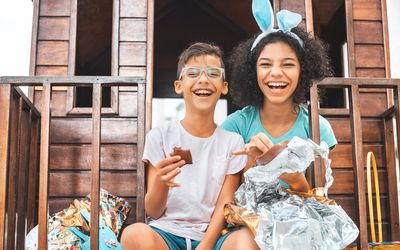 Kids on Easter