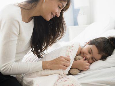 A good bedtime routine can help children sleep