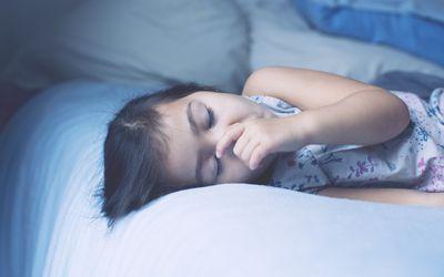 Little girl asleep, portrait