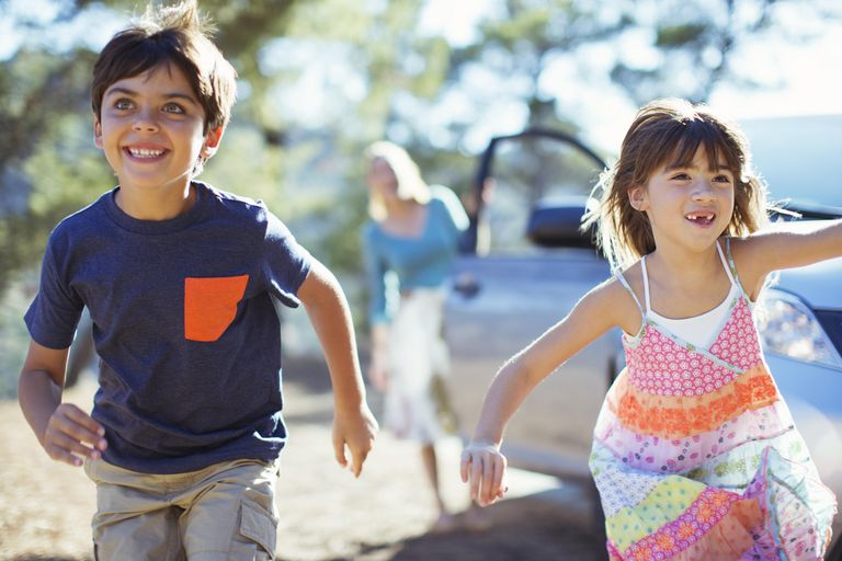 Children running