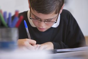 Boy Taking Test
