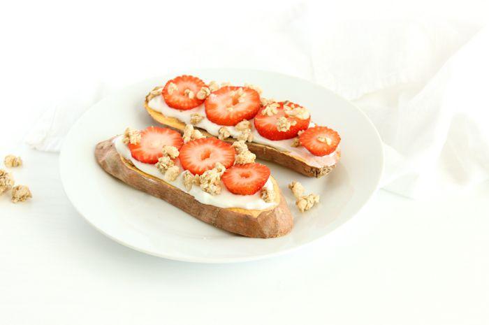 strawberry sweet potato toast