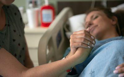 Woman in labor