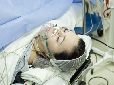 Woman undergoing c-section
