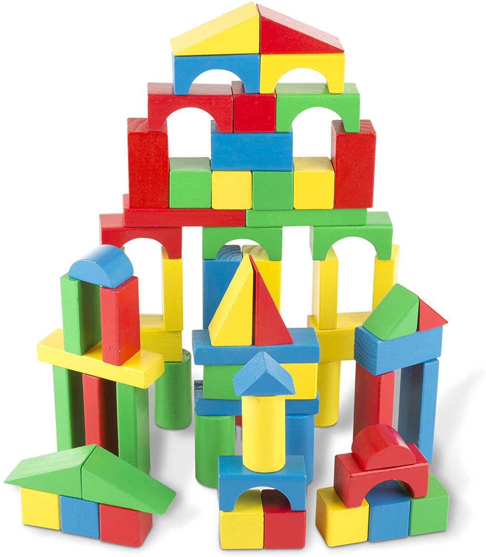 100-Piece Wooden Blocks Set
