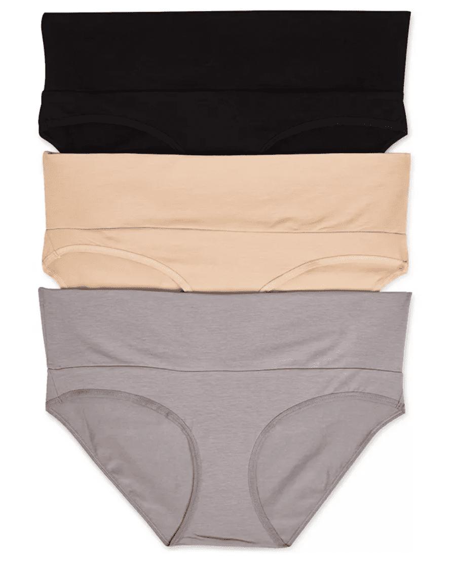 Motherhood Maternity 3-Pack Fold-Over Panties