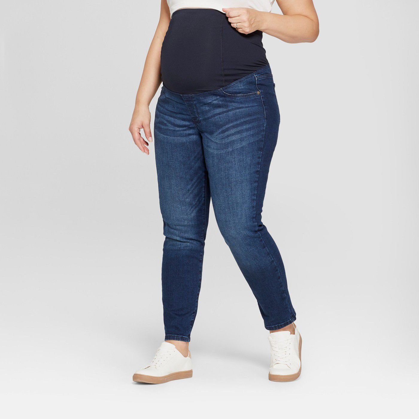 b1c7155e706d8 Best Plus-Size  Ingrid   Isabel Maternity Plus Size Crossover Panel Skinny  Jeans