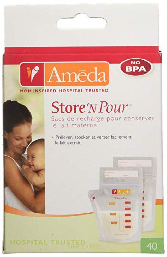 Ameda Store N Pour Breast Milk Storage Bags