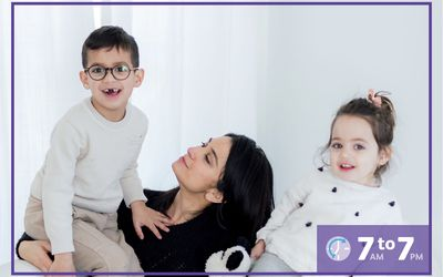Neha Ruch with her two kids