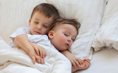Two brothers sleeping