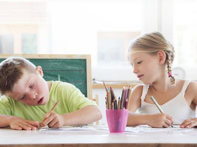 Two Kids at School