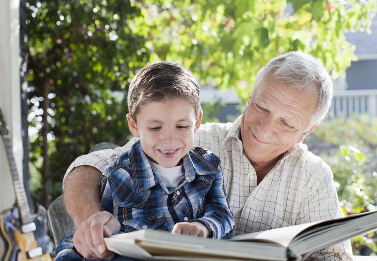 Grandparents reading with kids can boost confidence.