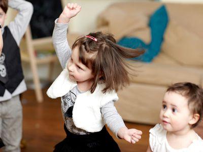 Gross motor activities for preschoolers - little girl dancing