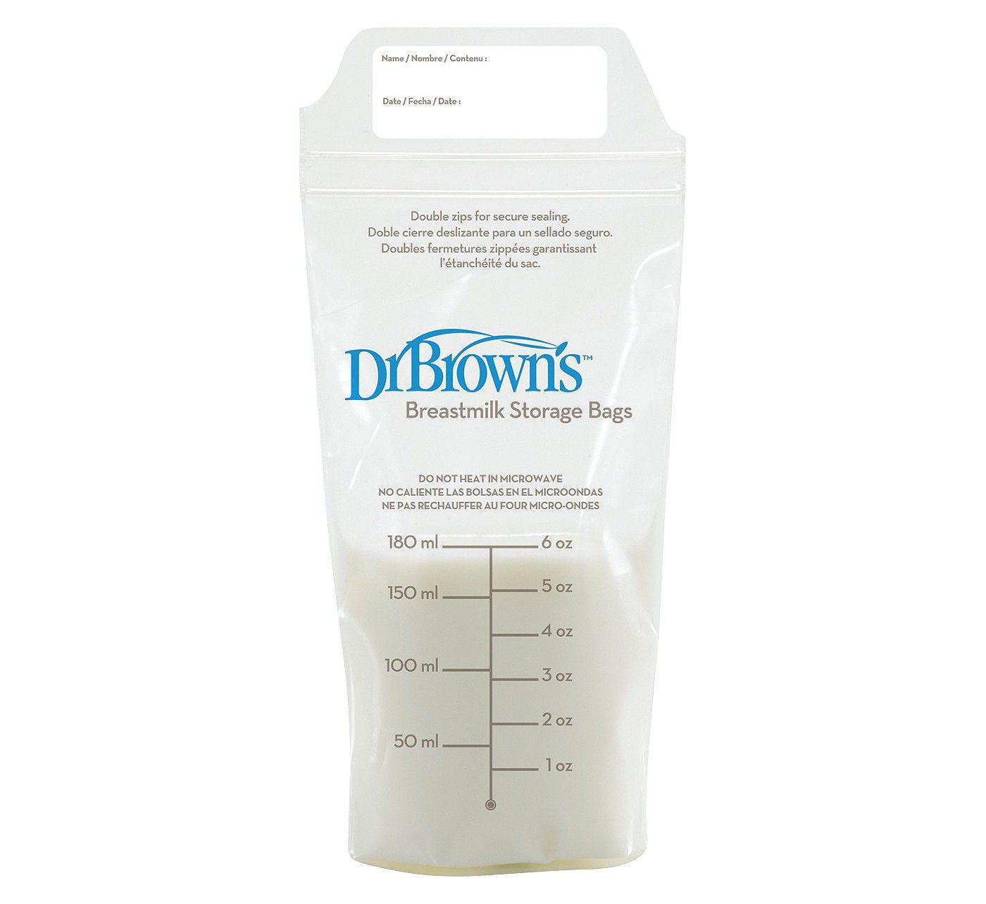 Dr. Brown's Breast Milk Storage Bags - 50ct