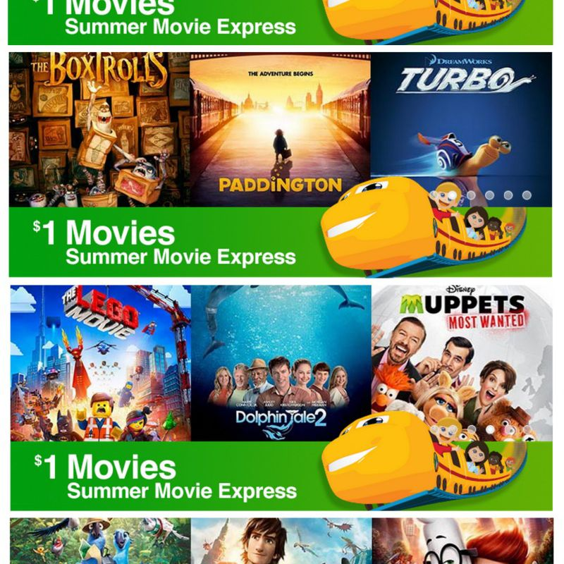 discounted and free movies for families all summer
