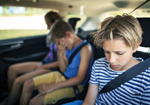 mad kids in car