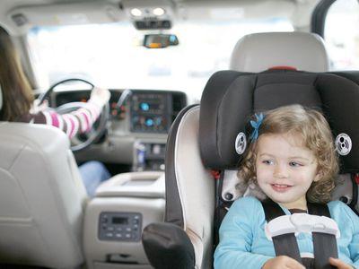 Toddler in rear-facing car seat