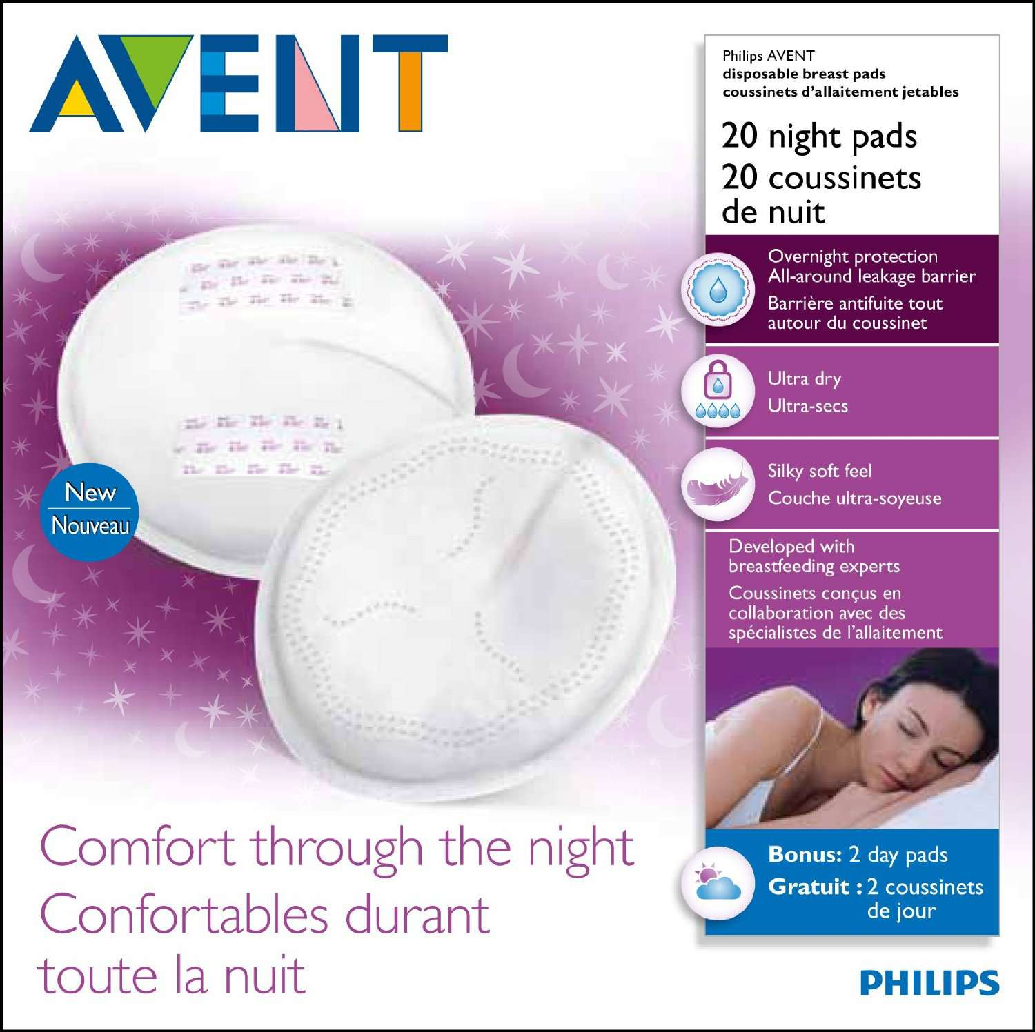 f57ba6b80dc Philips AVENT Disposable Breast Pads Night Pads