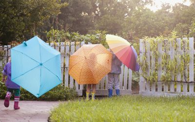 Colorful umbrellas - spring activities