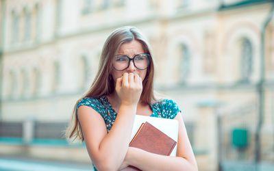 fearful teenage girl