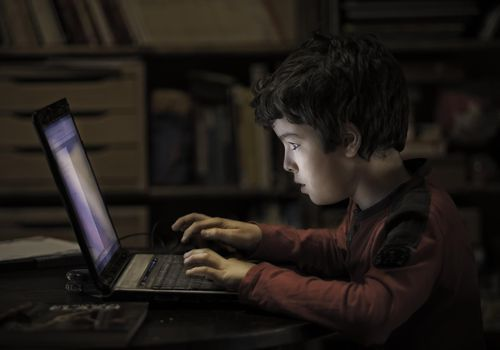 Don't allow your child to have too much screen time.