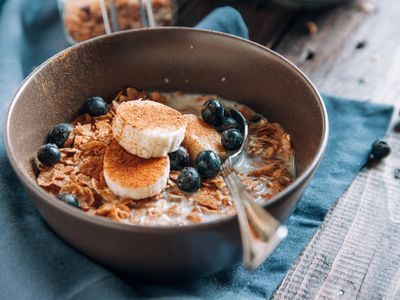 bowl of oatmeal and fruit