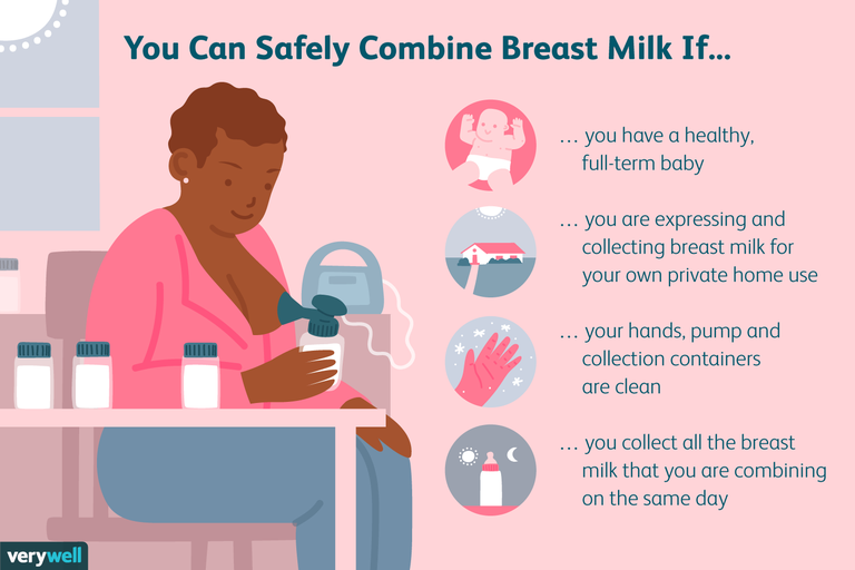 Safely combining breastmilk