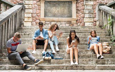 Students on technology