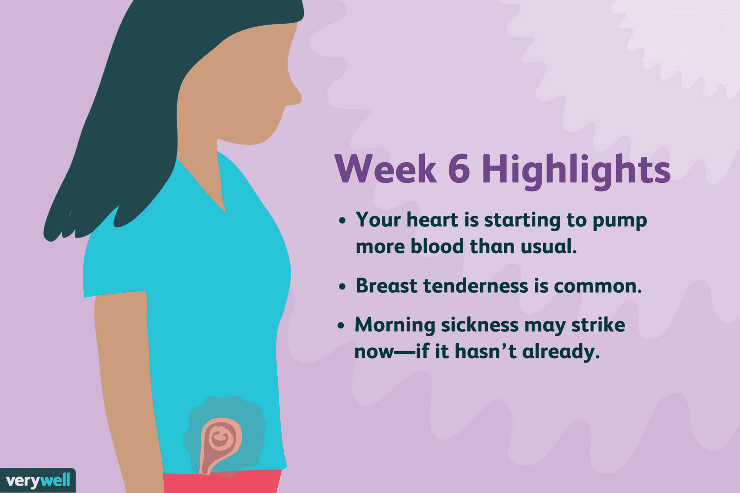 6 Weeks Pregnant: Symptoms, Baby Development, and More