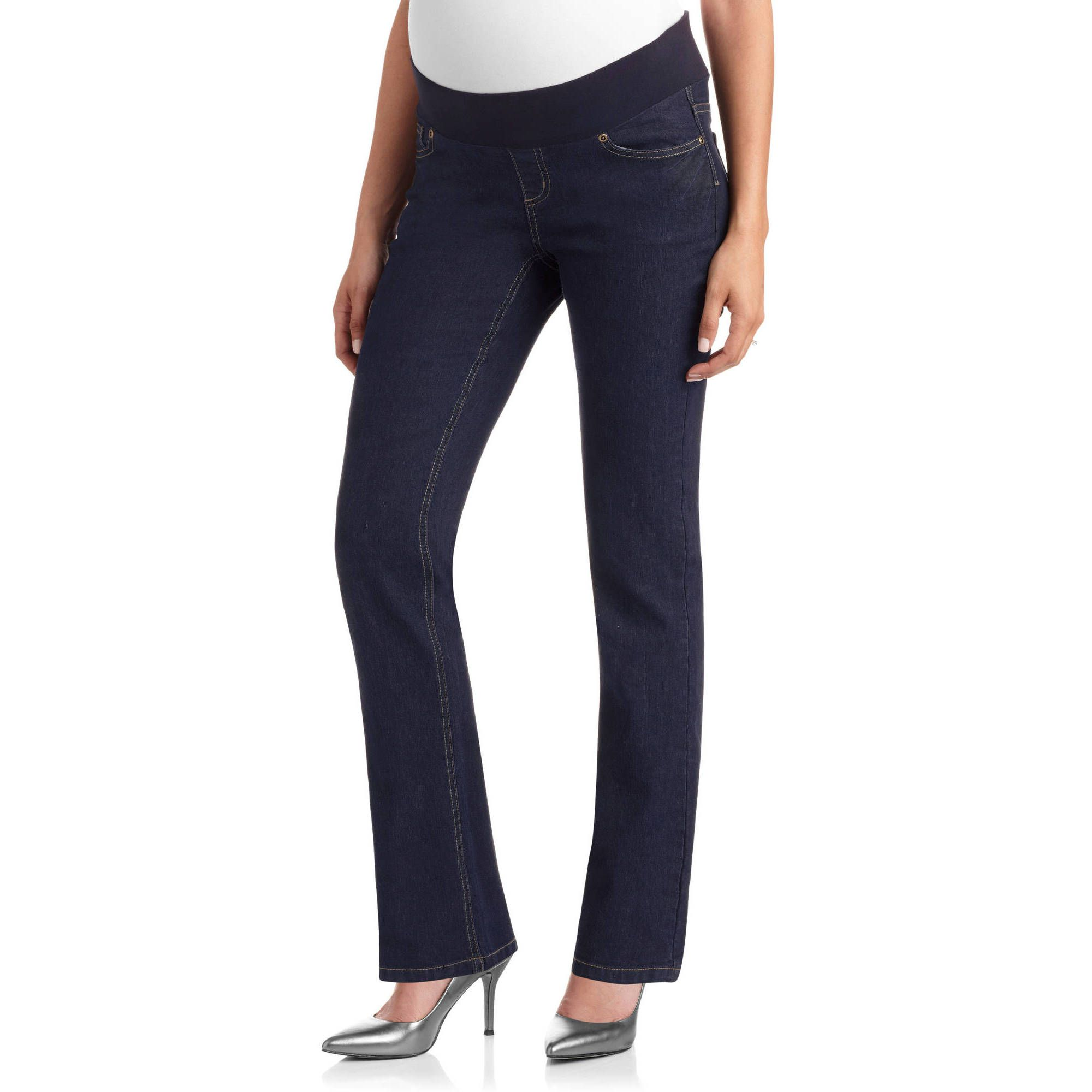 ba9dd43c09682 Best Budget  Planet Motherhood Demi-Panel 5-Pocket Bootcut Maternity Jeans
