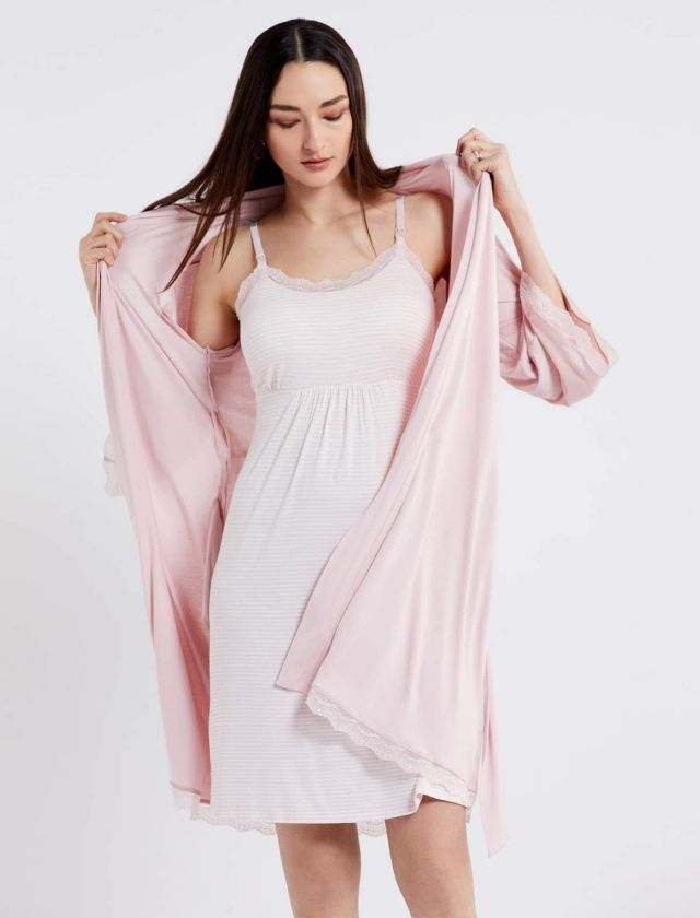 A Pea in the Pod Nursing Nightgown and Robe Set
