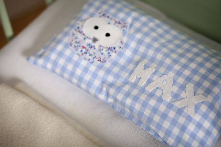 miscarried baby name on pillow