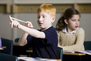 Child misbehaving at school