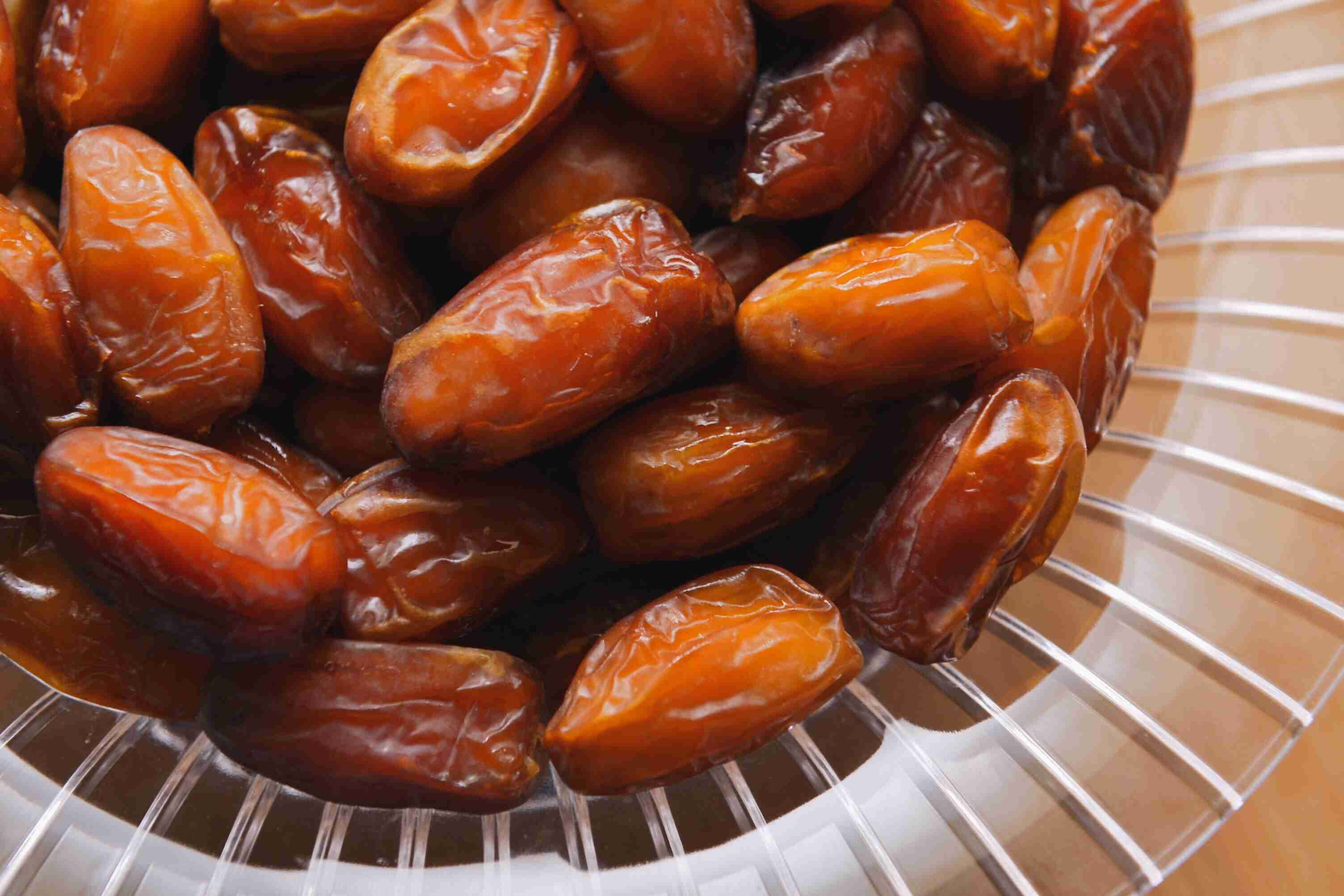 High Angle View Of Dates In Bowl
