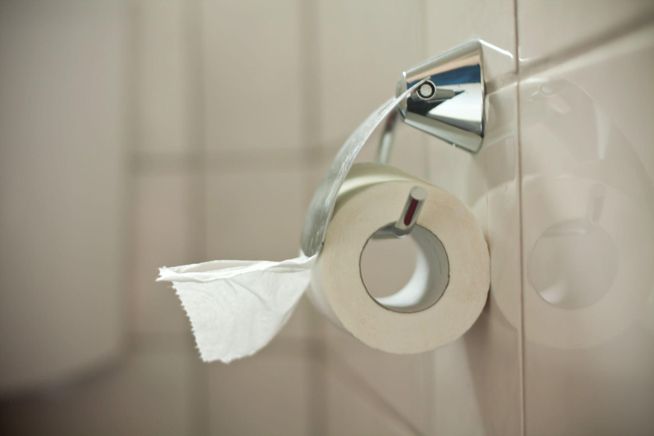 Eine Rolle Toilettenpapier