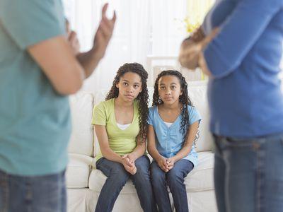 Teens watch parents argue
