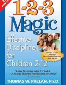 1-2-3 Magic is a parenting book that addresses child behavior problems.