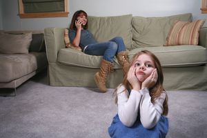 Babysitter neglecting child