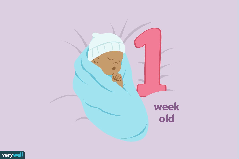 your 1 week old baby development milestones