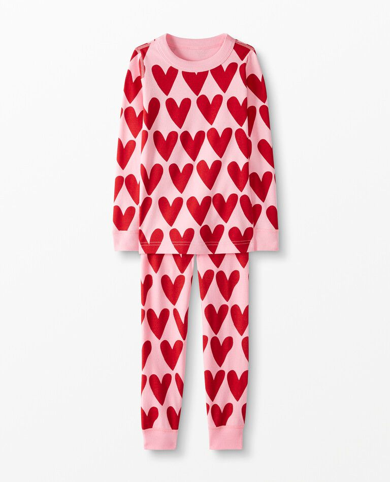 Hanna Andersson Long John Heart Pajamas
