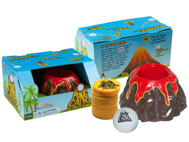 PongCano board game box and pieces