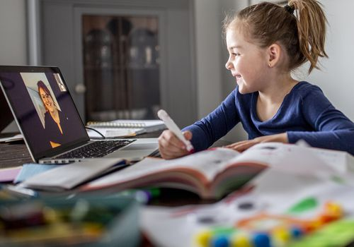 Kids can connect with an online tutor if they are engaged in the work.