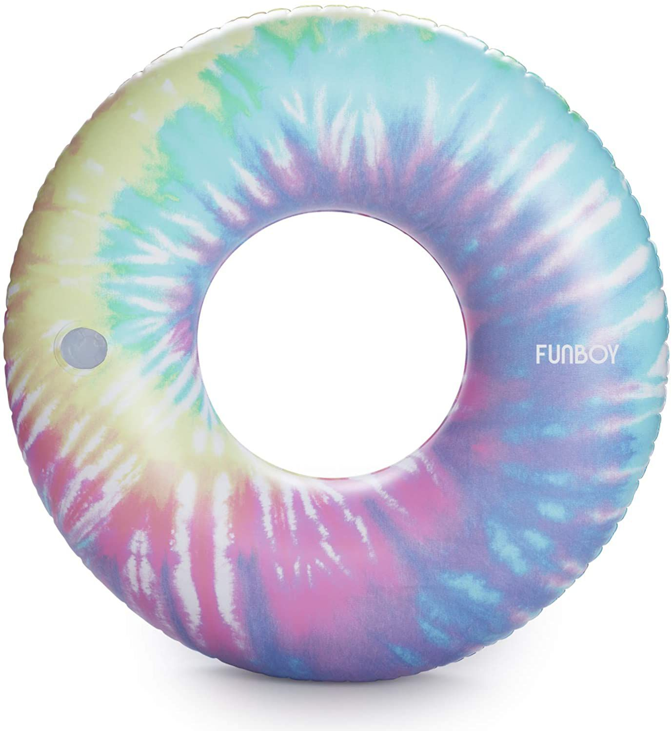 FUNBOY Giant Inflatable Tie Dye Tube Float