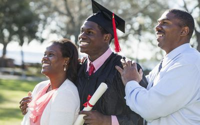 family with graduate
