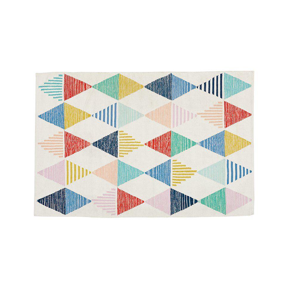 Colorful Triangle 4 x 6' Rug