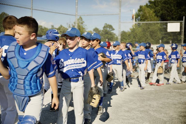 The post-game handshake is a youth sports tradition.