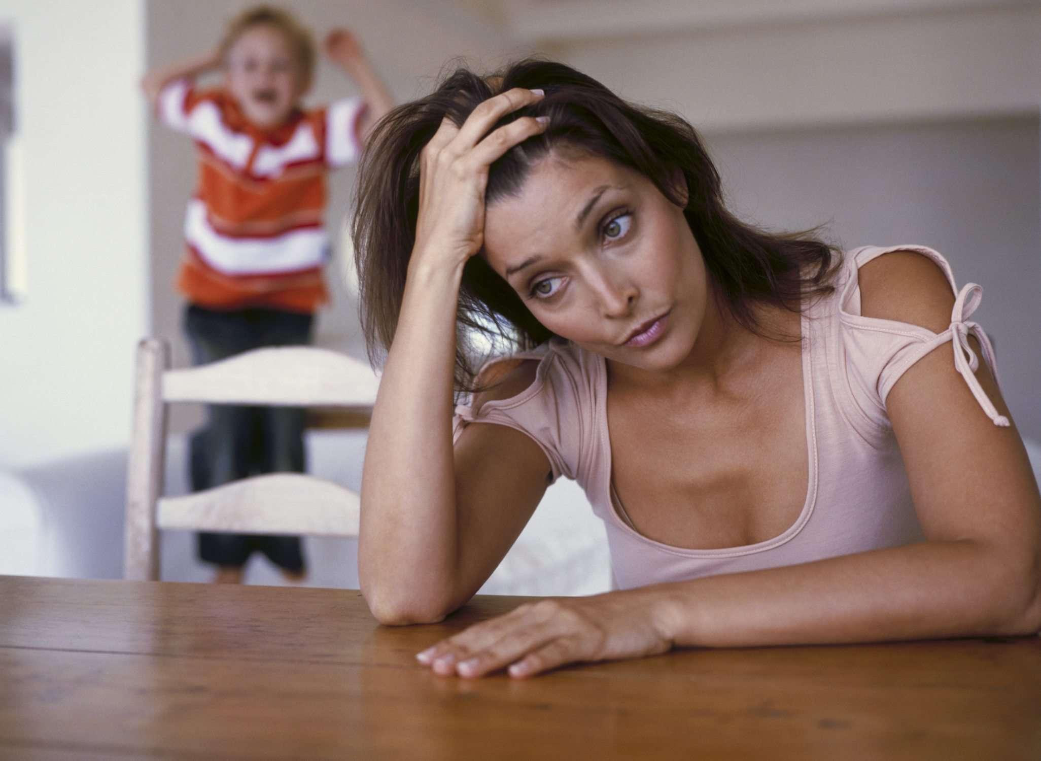 Ein Bild von einer Aufenthalt-at-home Mutter, die fühlt sich an wie Aufhören